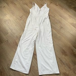 White Charlotte Russe Jumpsuit